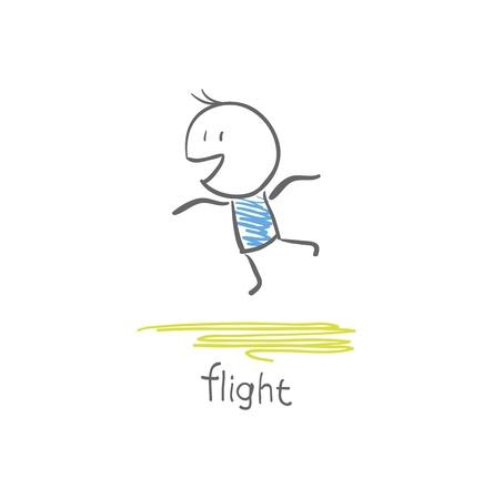 caida libre: hombre volador Vectores