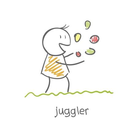 freak: juggler playing with balls