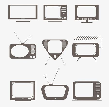 �cran plat: ic�nes tv r�tro mis en