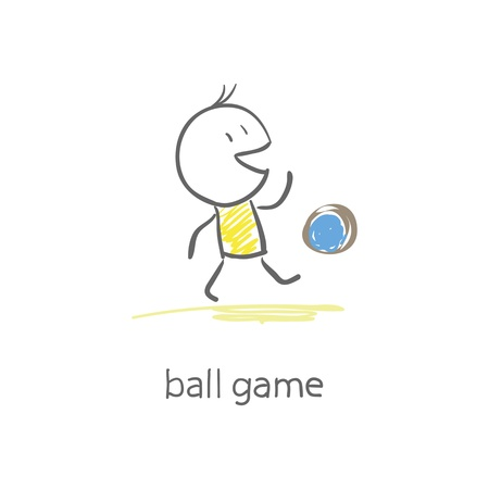 Man plays with the ball. Stock Vector - 15447213