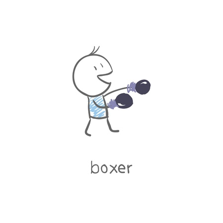 out of body: Boxer. Illustration