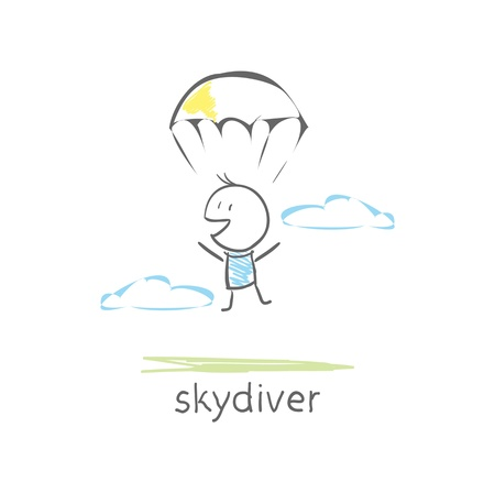 to gravity: skydiver