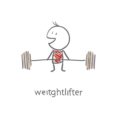 strenght: Weightlifter Illustration