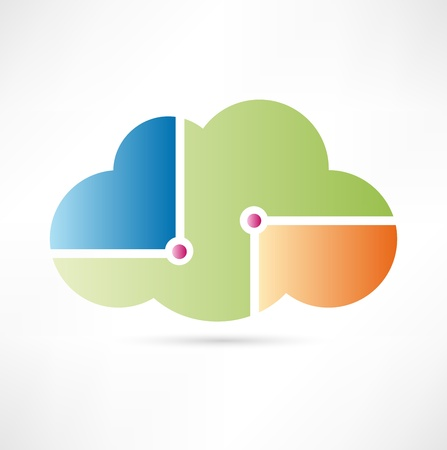 cloud: Cloud computing icon Illustration