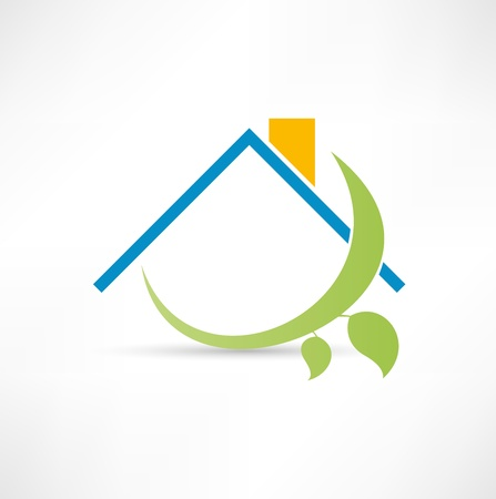 modern house: Eco home icon