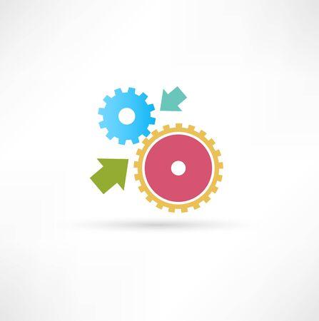 cog gear: gear icon