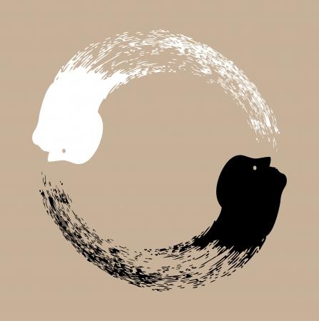 yin et yang: Taichi yin et le yang Illustration