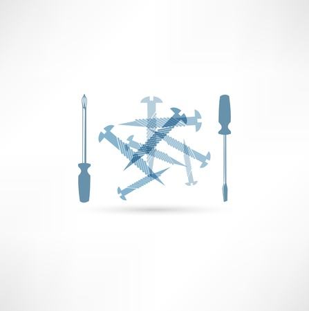 communication tools: Screwdriver and screws  Repair Icon