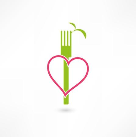 菜食主義の記号 写真素材 - 15567810