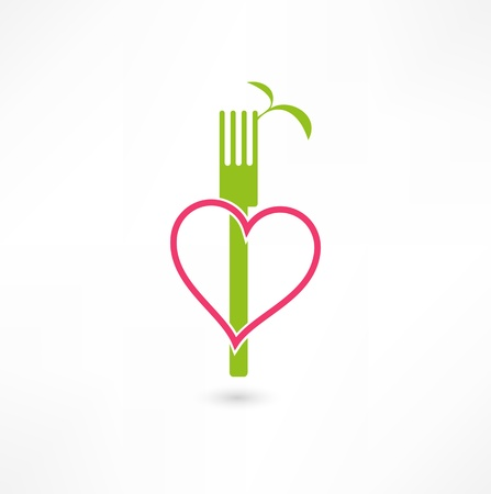 eating utensil: vegetarian sign