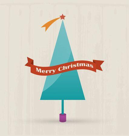 christmas tree illustration: Merry Christmas Design  Illustration