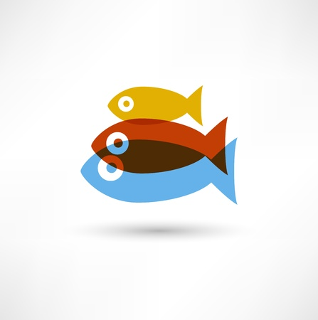 christian fish: Pescado Icono Vectores