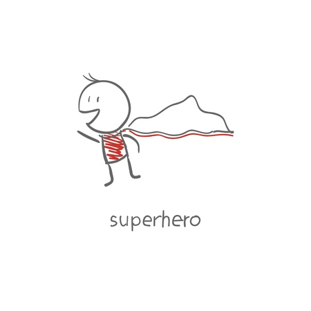Superhero flying