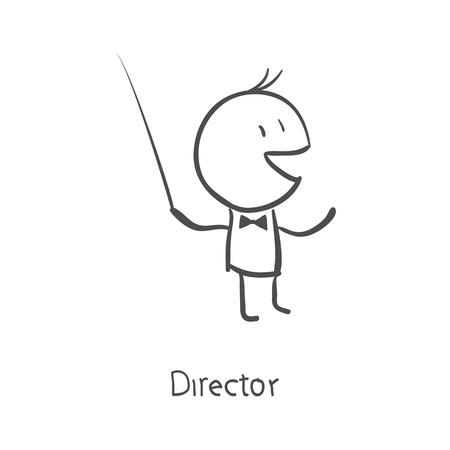 orquesta clasica: director de orquesta dirigiendo Vectores