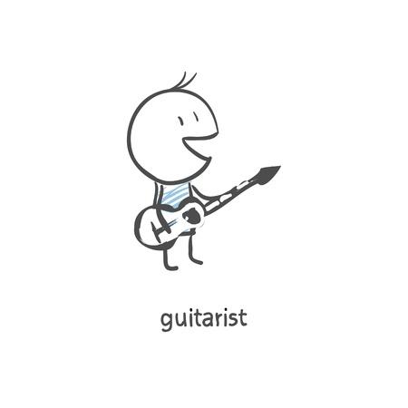 sketch: Guitar player Illustration