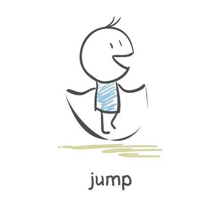 jumping rope Illusztráció