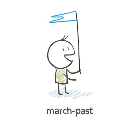 public servants: march-past Illustration