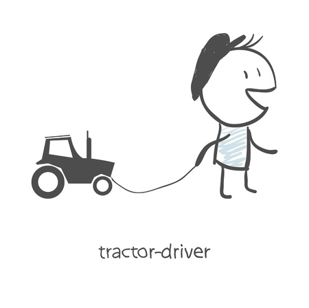 agronomics: The driver of the tractor  Illustration