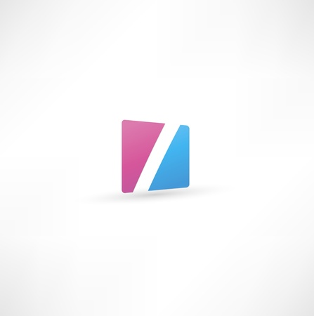 Abstract icon based on the letter I Illustration