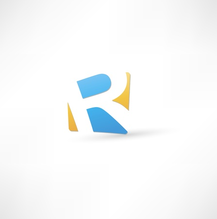 Abstract icon based on the letter R