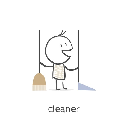 Cleaner. Vector