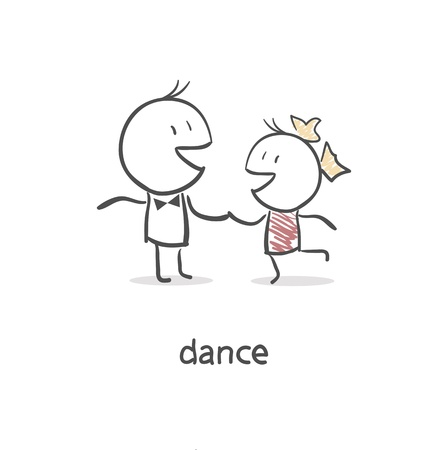 dancing club: Dancing couple.
