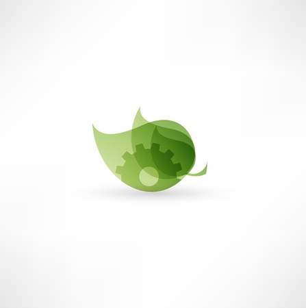 growing partnership: Eco Gear Icon  Illustration
