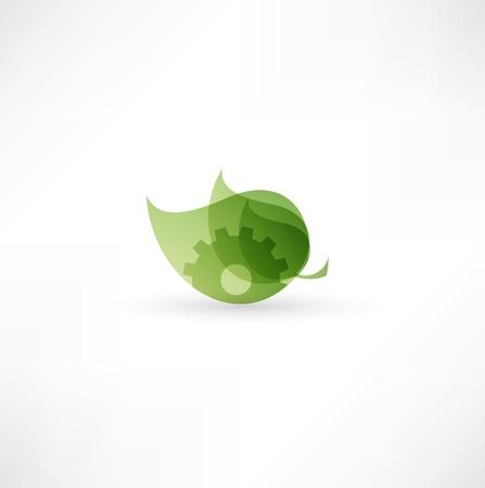 decoratiion: Eco Gear Icon  Illustration