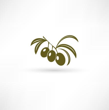 Olive pictogram Vector Illustratie