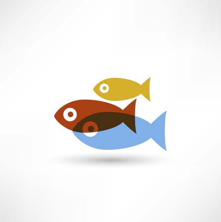 dead sea: Fish eco Icon Illustration
