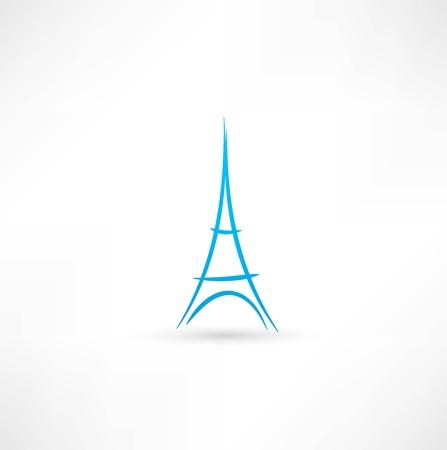 에펠 탑의 아이콘 일러스트