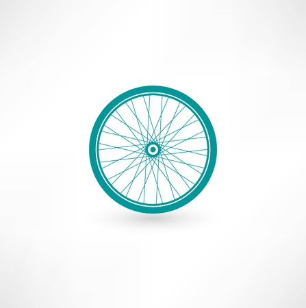bicycle wheel: Bicycle Wheel Symbol Illustration