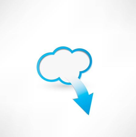 Cloud And Arrow. Cloud computing concept Vector