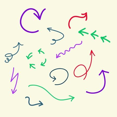 dashed: doodle  arrows Illustration