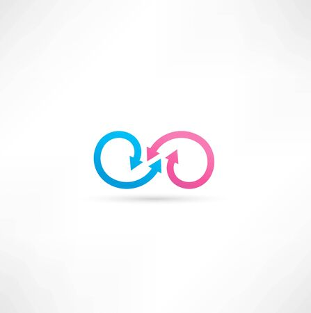 infinity symbol: Arrow Icon