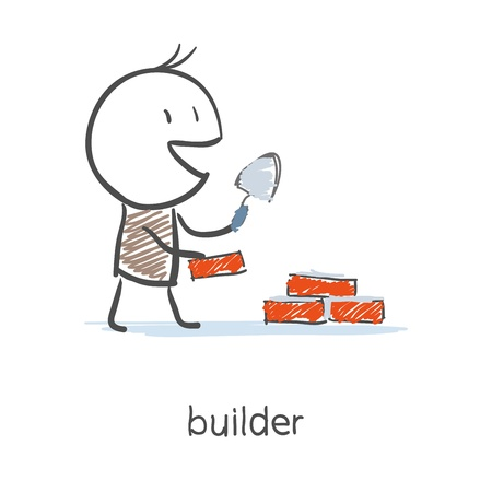 building inspector: Builder Worker Illustration