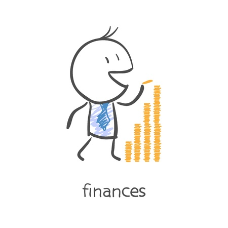 economy crisis: Finances Illustration
