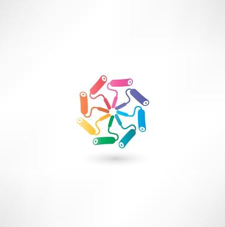 paint roller symbol 向量圖像