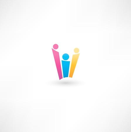 Team symbol Illustration