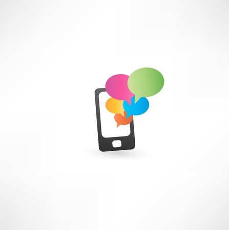 touchpad:  mobile phone with communication bubbles
