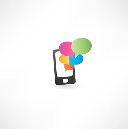palmtop:  mobile phone with communication bubbles