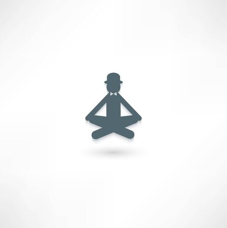 The gentleman in the lotus position Stock Vector - 16138429