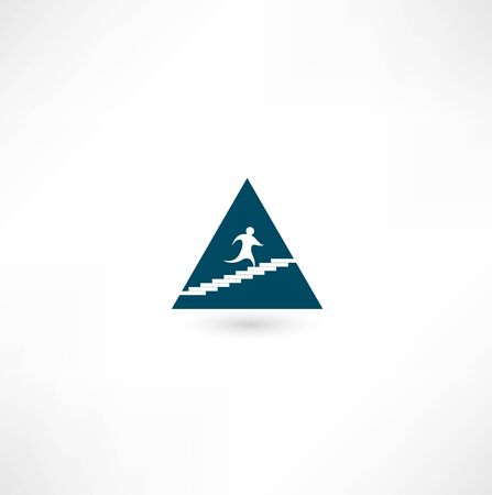 Up the pyramid icon