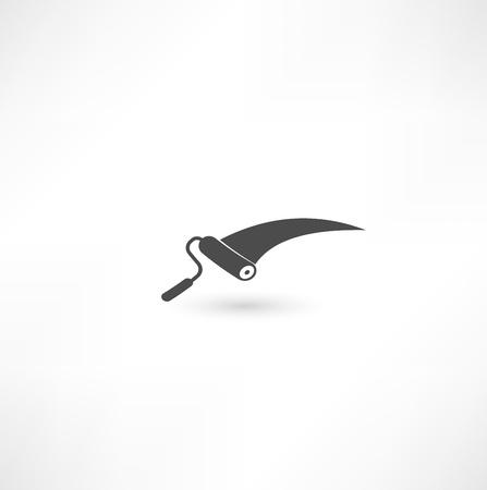 roller: Pintar icono rodillo Vectores