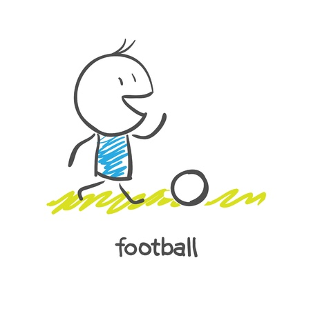 Joueur de football Banque d'images - 16282382