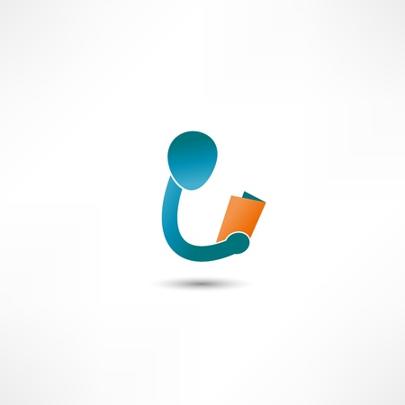 books library: Book Reader Sign Icon
