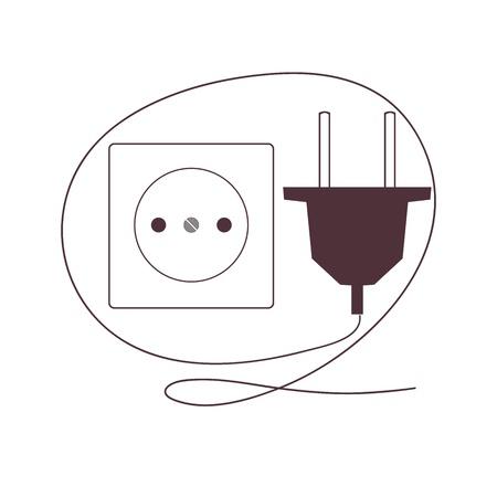 Plug and socket Illustration