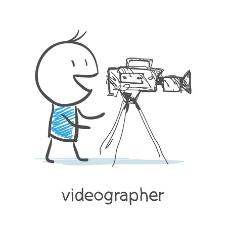 Videographer Illustration
