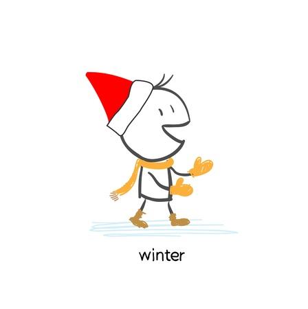 Man In Winter Gloves
