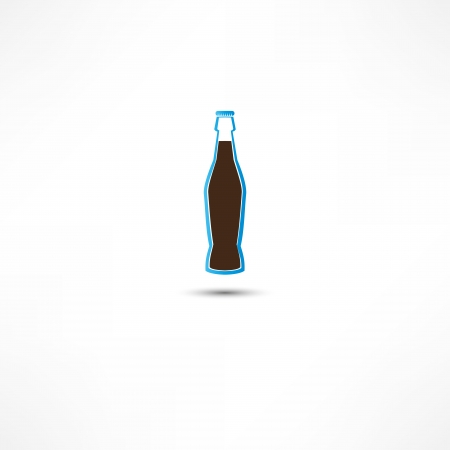 carbonated beverage: Bottle With Cola Icon